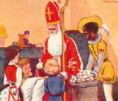 Among the Dutch, Sinterklaas (St. Nicholas) is accompanied by a helper called Swart Pete, whose job is to give lumps of coal to bad children.   zwarte-piet-wmaster.jpg (525×450)
