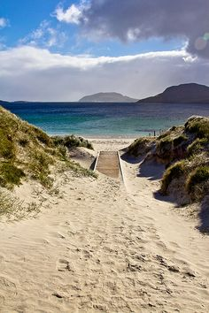 Sept 2012 - Image 44 Outer Hebrides of Scotland, a most unusual beach location.Outer Hebrides of Scotland, a most unusual beach location. The Places Youll Go, Places To See, Outer Hebrides, Photos Voyages, Scotland Travel, Glasgow Scotland, Scotland Trip, Dream Vacations, Beautiful Beaches