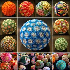 """Can you believe that these stunning handcrafted embroidered balls called Temari were made by a 92-year-old grandmother in Japan?Temari, meaning """"hand ball"""" in Japanese, isa traditionalfolk art that originated in China and was introduced to Japan around the 7th century…"""