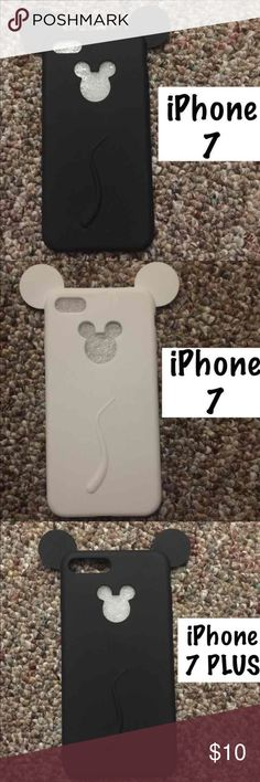One mouse iPhone case One Mickey Mouse iPhone case.   CHOOSE FROM: White iPhone 7 case Black iPhone 7 case White iPhone 7 PLUS case Black iPhone 7 PLUS case   New case in original packaging.   Perfect Christmas present, birthday present or stocking stuffer.   PRICE IS FIRM Accessories Phone Cases