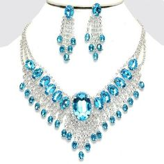 bridal sets & bridesmaid jewelry sets – a complete bridal look Wing Necklace, Necklace Set, Pendant Necklace, Crystal Jewelry, Crystal Necklace, Silver Necklaces, Crystal Rhinestone, Statement Necklaces, Gemstone Jewelry