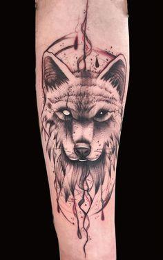 Head Tattoos, Wolf Tattoos, Small Tattoos, Wolf Tattoo Forearm, Arm Band Tattoo, Wolf Tattoo Design, Tattoo Designs, Tattoo Sketches, Tattoo Drawings