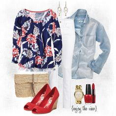 Fashion for Friday: Red, white, & blue