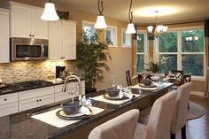 Pulte Homes, Hidden Bluffs in West Bloomington. Rambler. Westbrook Floor Plan. Kitchen and Dining Area.  Starts at $370,990. Dining Area, Kitchen Dining, Pulte Homes, Good House, Cool House Designs, Kitchens, Sweet Home, New Homes, Floor Plans
