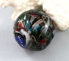 marble paper weight witches brew paperweight by lampworkbyjulie, $35.00