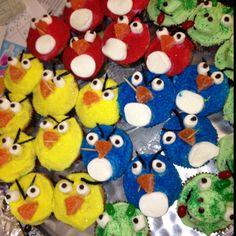 Angry Bird cupcakes...the best birthday treat!