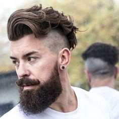 Grow a beard with the strongest all-natural beard hair growth serum available, formulated with tamanu oil and other essential oils to stimulate hair growth. Made in Colorado., click now for info. Undercut With Beard, Beard Haircut, Fade Haircut, Shaved Undercut, Cool Mens Haircuts, Haircuts For Curly Hair, Undercut Hairstyles, Men's Haircuts, Wavy Hair