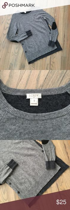 J. Crew sweater Very good used condition. Suede elbow patches. J. Crew Sweaters