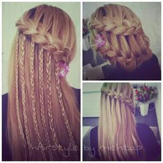 Waterfall braid styles