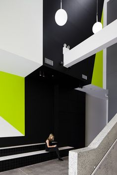 Image 5 of 11 from gallery of Unit for Goodman / MAKE Creative. Photograph by Luc Remond Environmental Graphic Design, Environmental Graphics, Space Interiors, Office Interiors, Decor Interior Design, Interior Decorating, Nightclub Design, Circulation, Graphic Design Print