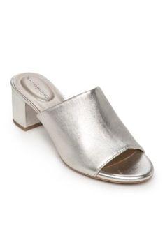 Bandolino Light Gold Spars Block Heel Slip On