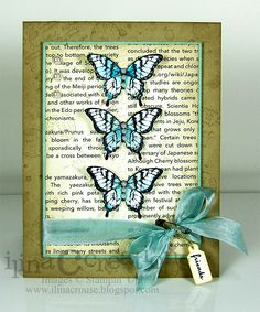 friends butterflies card by Ilina Crouse