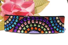 Rainbows Dichroic Glass French Hair Barrette by IntoTheLight, $30.00