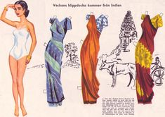 1957 INDIA Paper Doll