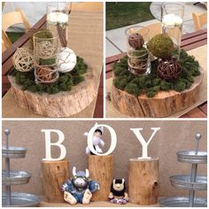 Where The Wild Things Are Baby Shower Theme, Woodland, Burlap, Boy