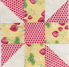 Calico Puzzle. This would make a good block to use scraps on.