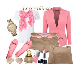 Pink and Neutrals by lori-atkinson on Polyvore