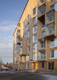 Puukuokka Housing Block,© Mikko Auerniitty