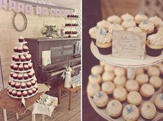 Love the Desert Table display.  The old piano gives life to the already adorable presentation.