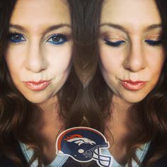 Broncos makeup!!! Go Broncos 💙🏈 #denver #denverbroncos #orangecounty #broncos #broncos #bronconation #football #gamenight #fallmakeup #makeup #younique #polarized #cherished #myyouniquegirllisa #youniqueproducts  #younique makeup looks