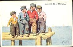Künstler Ak Feiertag, Karl,♥ LAvenir de la Hollande, Niederländische Trachten