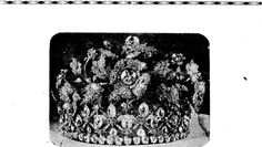 CROWN JEWELS PUT UP FOR SALE. A magnificent diamond tiara, part of the Bavarian Crown Jewels, which were put up for sale at Christie's, in London, recently. (Ellesmere Guardian, 12 February 1932)