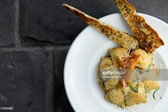 Foto stock : Butternut Squash Tortellini and Bread