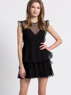 Rochie scurta Guess neagra eleganta cu tulle Stilettos, Peplum, Black, Tops, Dresses, Women, Style, Fashion, Vestidos