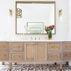 Natural wood vanity in a master bathroom. Bathroom Trends, Chic Bathrooms, Bathroom Inspo, Bathroom Designs, Bathroom Ideas, Country Bathrooms, Beach Bathrooms, Small Bathrooms, Bad Inspiration