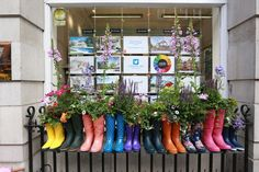 Would work well on our black fence at entrance? To mark the Chelsea Flower Show, Chelses have shops have bedecked themselves with glorious flowers