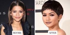 When: February 2015 What: A Boyish Crop Why we love it: A true beauty risk taker, the singer's latest change—a super short pixie—is her chicest yet. Update: Zendaya told Entertainment Tonight that the style was actually a wig.    - HarpersBAZAAR.com