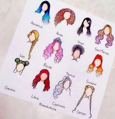 My Zodiac is Sagittarius !The hair for my zodiac is soo cool and my sign makes me feel fierce! Zodiac Art, Zodiac Signs, Astrology Zodiac, Arte Fashion, How To Draw Hair, Cool Drawings, Drawing Pictures, Drawing Ideas, Drawing Reference