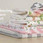 DIY Coordinating Newborn Gift Set