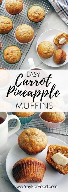 These classic Carrot Pineapple Muffins are flavourful super. These classic Carrot Pineapple Muffins are flavourful super soft and extremely easy to make. Make these delicious muffins in less than 35 minutes. Healthy Breakfast Muffins, Breakfast Snacks, Best Breakfast, Breakfast Recipes, Vegetarian Muffins, Healthy Carrot Muffins, Breakfast Casserole, Breakfast Ideas, Hashbrown Breakfast