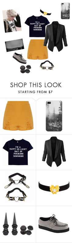 """""""Untitled #503"""" by haileyb-creepypasta-123 ❤ liked on Polyvore featuring Casetify, Jupe de Abby, Kenneth Jay Lane and Demonia"""