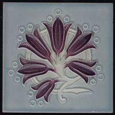 Herent Art Nouveau tile Motifs Art Nouveau, Azulejos Art Nouveau, Tile Art, Tile Painting, Art Nouveau Tiles, Garden Whimsy, Vintage Tile, Carving Designs, Pottery Designs