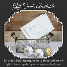 the salvaged boutique gift cards