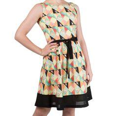 Stardust jurk multicolours - Vintage Retro Rockabilly