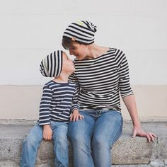 Made to order - Hand Knit Merino Family Hats - 1 Adult hat and 1 Child