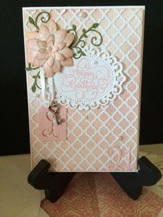 I made this for a dear friend's daughter's 21st birthday. Entering in Simon Says Monday Home Grown Challenge (flowers) http://www.simonsaysstampblog.com/mondaychallenge/#; Virginia's View All Things Embellished http://virginiasviewchallenge.blogspot.com/2015/08/virginias-view-challenge-17.html; Creative Inspirations Flowers http://cinspirations.blogspot.co.uk/; Simon Says Work It Wednesday Die Cuts http://www.simonsaysstampblog.com/blog/work-it-wednesday-july-2015/