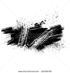 White tire track on black grunge background by LongQuattro, via Shutterstock