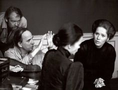 Ingmar Bergman and Liv Ullmann on the set of Cries and Whispers, photographed by Bo-Erik Gyberg, 1972