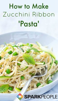 Once you try this healthy, low-cal, low-carb zucchini pasta, you may never go back to the real thing!  | via @SparkPeople #food #recipe #tutorial #diet #nutrition