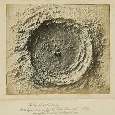 Photograph of a Moon Crater from the late 1850s - just one of the gems from The Getty's Open Content Program - See more here: http://publicdomainreview.org/2013/08/14/selection-from-the-gettys-open-content-program/