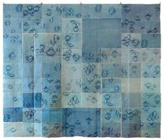 Ann Hamilton: lithography collaged and mounted by the artist onto cotton. Inspiration for next year :)