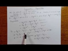 Logaritmi - Proprietati - Algebra - Clasa a X-a - 100104-01