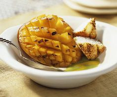 Grilled Mango Blossom - serve with ice cream or fruit sorbet
