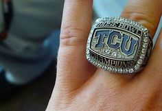 TCU Texas Christian University Horned Frogs - 2011 Rose Bowl Champions ring - completed 2010 season & Rose Bowl undefeated