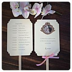 Fächer mit Ablaufplan / Sitzplatz Vintage;Hochzeit von Vintage Lädchen auf DaWanda.com
