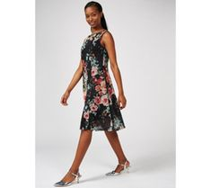 Outlet Ronni Nicole Fit and Flare Stretch Lace Dress - 179732 Qvc Uk, Ronni Nicole, Kohls Dresses, Stretch Lace, Tank Dress, Fit And Flare, Cold Shoulder Dress, Plus Size, Floral